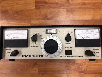Pmc/beta 208Lf Vibration Analyzer Used