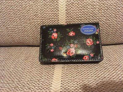 New With Tags Cath Kidston Coin Purse Little Spot Pink And Silver Business Card