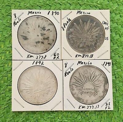 Mexican 8 Reals .903% Silver (4 coins)  #15