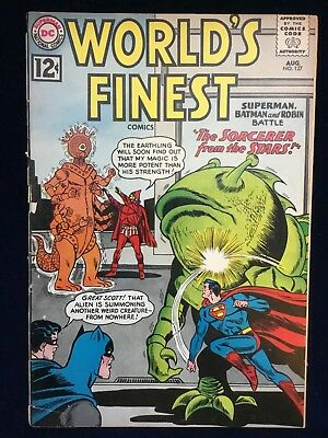 DC Comics Silver Age WORLD'S FINEST VOLUME 1 ISSUE 127 AUGUST 1962