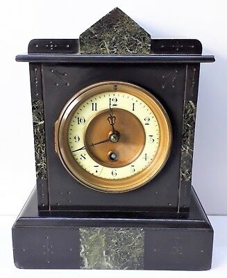 Antique French Marble / Slate Mantle Clock, Good working order