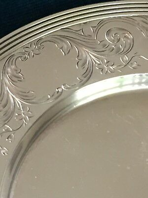 Sterling silver dish with ornate and unique flower engravings
