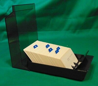 """Rolodex VIP 24C Covered Card Index File holds 500 2-1/4"""" x 4"""" cards & dividers"""