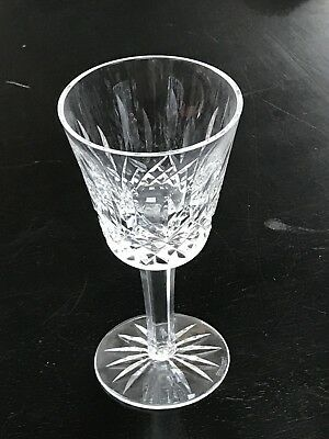 "Waterford Crystal Lismore Claret Wine Goblet Glasses 5 7/8"" Tall"