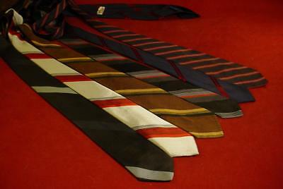 LOT OF VINTAGE MID CENTURY 1960s MENS SKINNY NECKTIES TIES SILK STRIPES