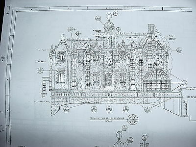 Disneyland haunted mansion blueprints 4 sheets 1999 picclick wdw haunted mansion blueprints 20 sheets malvernweather Image collections