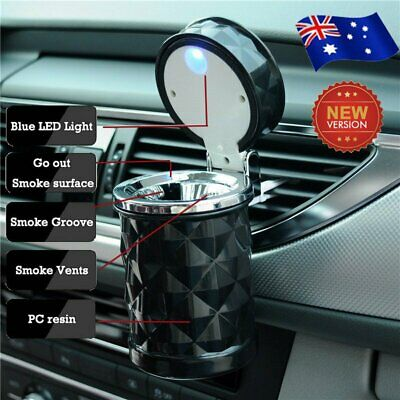 Auto Car Truck LED Cigarette Smoke Ashtray Ash Cylinder Cup Holder Portable AU