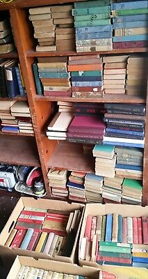 10 ANTIQUE VINTAGE OLD Books Book Library Decor Lot MIXED HARDCOVER (1900-1959)