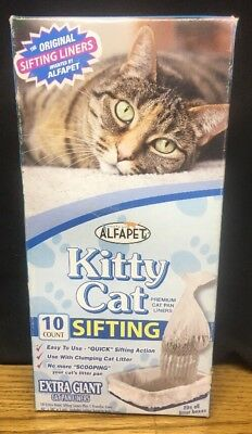(AB) Alfapet: Extra Giant Sifting Cat Pan Liners, 10 Count; Free US Shipping
