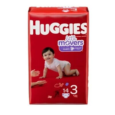 Baby Diaper Huggies Snug & Dry TabClosure Size3 Disposable Hvy Absorb Case126