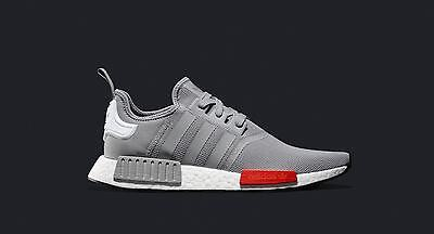 992182e7f74c6 Adidas NMD R1 Light Onix Grey Red White Size 12.5 S79160 Yeezy Ultra Boost  12