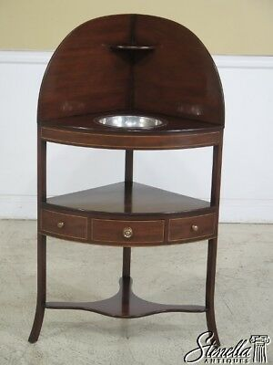 L44062EC: KITTINGER T731 Inlaid Mahogany Corner Washstand