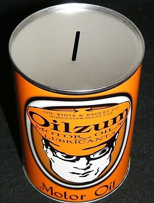 OILZUM MOTOR OIL CAN QT COIN BANK NEW- Free S&H