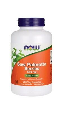 NOW Foods Saw Palmetto Berries Men's Healthy Prostate 550 mg 250 Veg Caps (r)