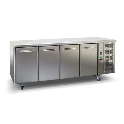 Commercial Italian Made 4 door Fridge Work Bench Under Bench 304 Stainless Steel