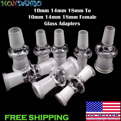 10mm 14mm 18mm Male Female Glass Adapter Joint Slide Bowl Extensions USA Selller