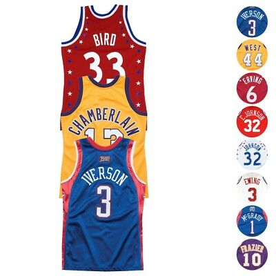 8e7a108fdc4 1972-2004 NBA All Star East & West Mitchell & Ness Authentic Retro Jersey  Men's