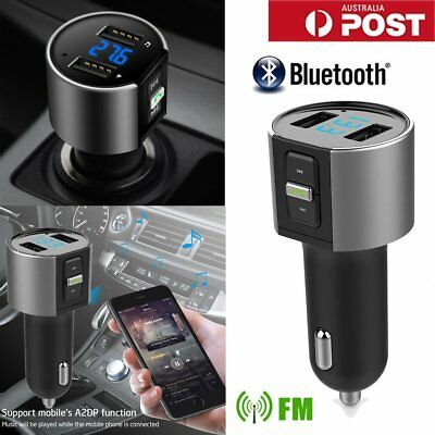 Car FM Transmitter Bluetooth Wireless Kit MP3 AUX Player Adapter USB Charger