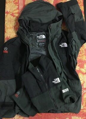 1fee68640 THE NORTH FACE Gore Tex Jacket + Fleece Summit Series VTG Rare Supreme Green