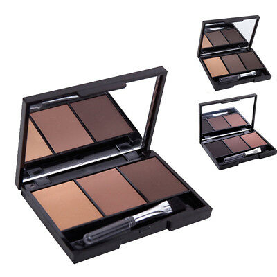 3Colors Eye Shadow Powder Palette Matte Eyeshadow Cosmetic Makeup With Mirror