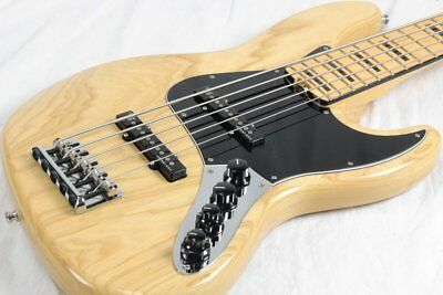 Fender USA American Elite Jazz Bass V Ash Natural