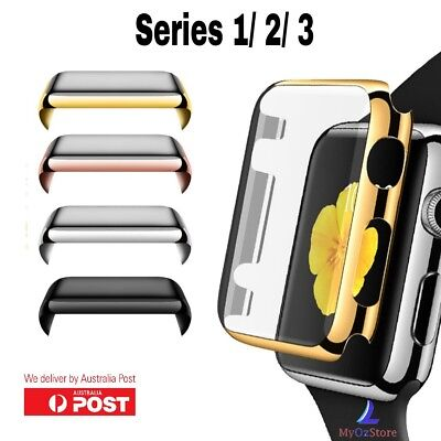 Apple Watch Series 1 2 3 38mm 42mm Snap On Full Body Cover Case Screen Protector