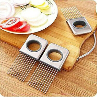 Slicing Tool Cutter Stainless Steel Meat Needle Handle Fork Cooker Cut Tool