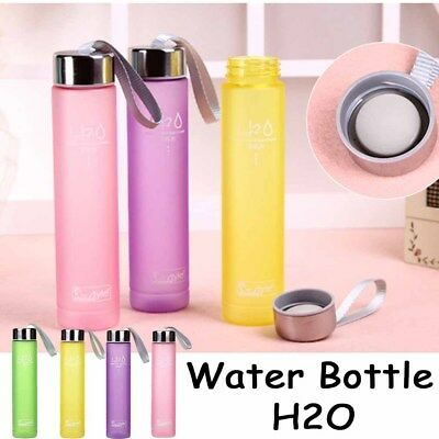 Portable Travel Bottle 280ML Cup Plastic Water Sports Hiking Cup Scrub Outdoor