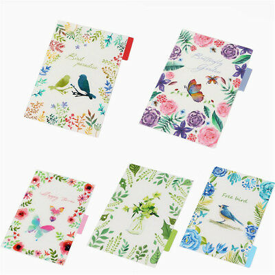 5Pcs A6 Flowers Index Multi-Coloured Tabs Divider Insert Refill Planner Notes
