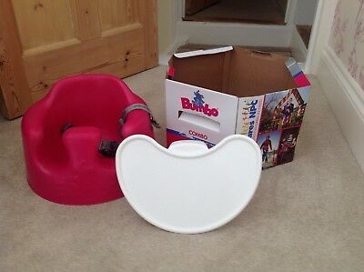 Bumbo Baby Seat With Tray Child Chair Excellent Condition