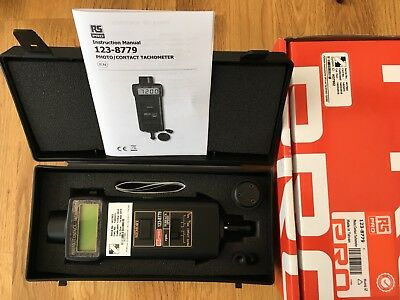 RS Pro Tachometer 123-8779 Best Accuracy +/-0.05 Contact Optical LCD