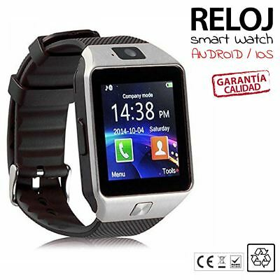 RELOJ INTELIGENTE SMARTWATCH BLUETOTH para ANDROID SAMSUNG IPHONE PULSERA gris n