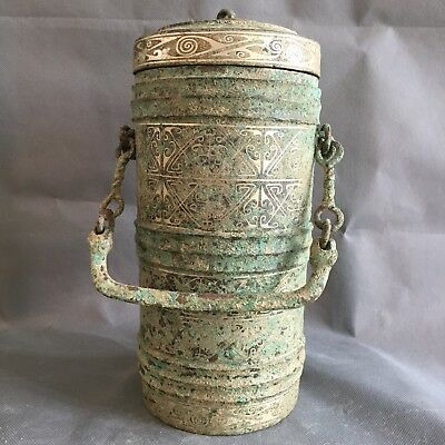 antique     Chinese ancient bronze - silver - silver - style high - level tripod