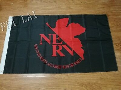 Evangelion Nerv Mobile Cos Flag Anime Cosplay Customized Banner 90X150Cm