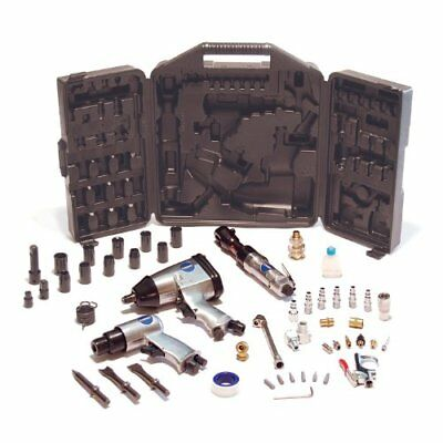 Air Tool Set Compressors Tools Chisel Hammer Rachet Impact Wrench 50 Pieces Kit
