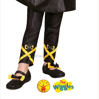 The Wiggles Emma Yellow Black Footless Tights S: Small Girl Costume Pant Legwear