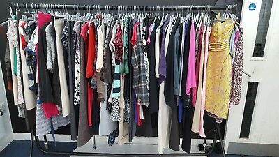 Job Lot Of Ladies UK 8 Mixed Clothing - Skirts/Dresses/Tops/Jackets/Jeans ETC