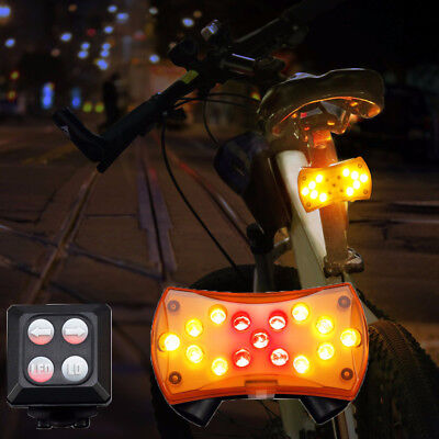 Wireless Control Turn Signal Light for Bicycle Turning Bike Cycle LED Lamp Hot