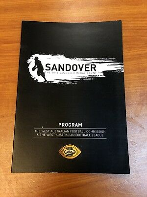 WAFL 2013  Sandover Medal Program WA Rory O'Brien East Fremantle Football Club