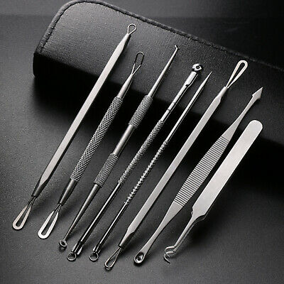 8x Blackhead Remover Tool Kit Spot Acne Pimple Comedone Extractor Popper Comedon