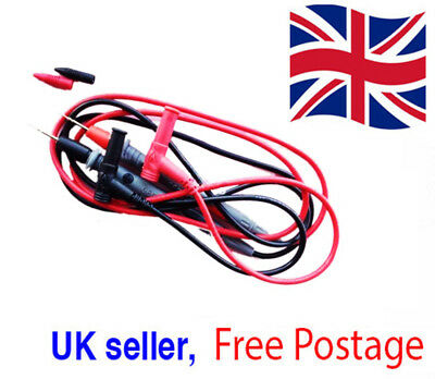 1pr SMD Universal Probe Test Lead Cable Ultra Fine Needle Tip Multimeter 1kV 20A