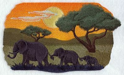 """Elephant Trio Embroidered Patch Approx Size 9.7""""x 5.8"""""""