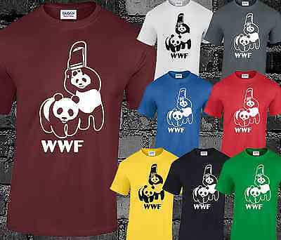 Panda Cool Funny Mens T Shirt Top Wrestling Raw Tumblr Hipster Gift Present