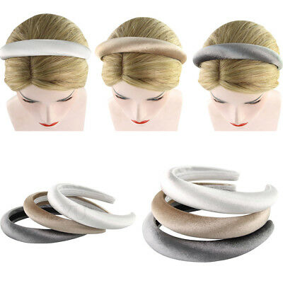 Women Girl Soft Feel Padded Velvet Cover Headband 2.5cm Ladies Plastic Hair Band