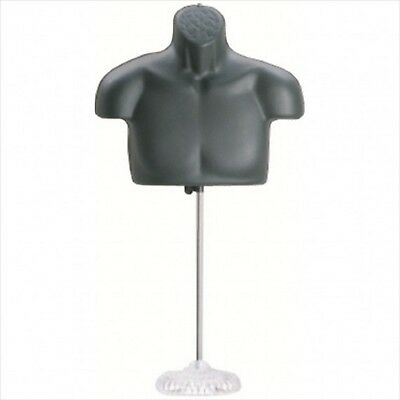 New!! Male Torso Mannequin Form - Black w/ Acrylic Base