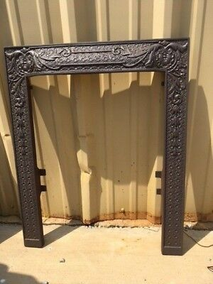 Antique Cast Iron Fireplace Surround Great Detailing