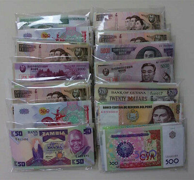 New banknotes 100 Different world paper money collection ,from 30 countries