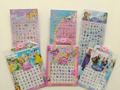 Kids Nail stickers lot Frozen Disney Princess my little pony nail art decal mix