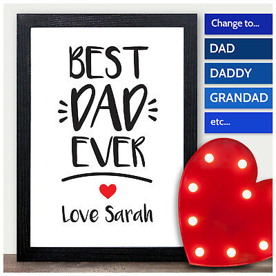 best dad daddy grandad ever personalised keepsake fathers day gifts