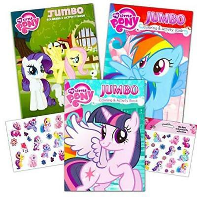 MY LITTLE PONY Coloring Book Super Set With Stickers (3 ...